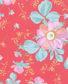 Eijffinger Rice Behang 359043 Bloemen/Romantisch/Rood/Botanisch