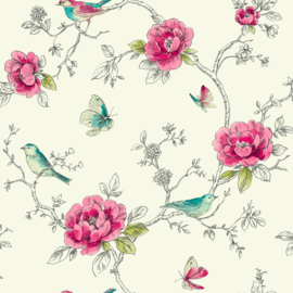Arthouse Options2 Behang 650401 Bloemen/Floral/Romantisch/Birds/Vogels