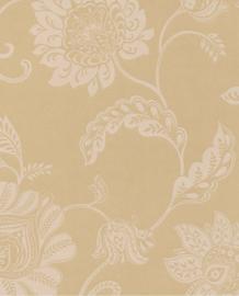 Eijffinger Salisbury Behang 355022 Klassiek/Bloemen/Creme/Goudgeel