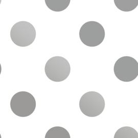 Noordwand Kids@Home Individual Behang 102508 Silver Dotty/Stippen/Dots/Zilver/Kinderkamer