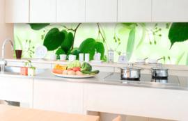 Dimex Zelfklevende Keuken Achterwand Green Leaves KL-350-010 Bladeren/Botanisch/Natuurlijk