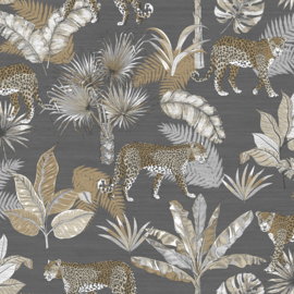 Dutch Wallcoverings Jungle Fever Behang JF2103 Leopard/Luipaard/Dieren/Planten/Botanisch