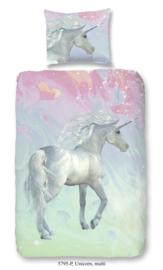 Dekbedovertrek Muller-Textiles 5795 Unicorn Multi/Eenhoorn/Dieren/Fantasie 1 persoons