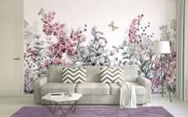 AS Creation Designwalls Fotobehang DD118800 Motley Painting/Bloemen/Botanisch/Vlinders Behang