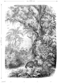 Esta Home Paradise Fotobehang 158945 Leopard in Jungle/Luipaard/Botanisch/Dieren