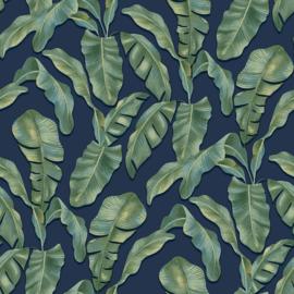 Noordwand #Hashtag Behang 11006 Botanisch/Bladeren/Natuurlijk/Modern/Blauw/Groen