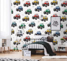 Behangexpresse Kate & Andy Fotobehang INK7420 Trrractorsss/Tractor/Boerderij/Kinderkamer Behang