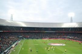 Fotobehang Feijenoord de Kuip 4/Stadion/Lichtmast/Rotterdam