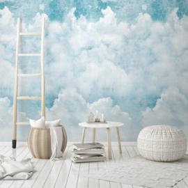 Dutch Wallcoverings One Roll One Motif Behang A42501 Blue Clouds/Wolken/Natuurlijk