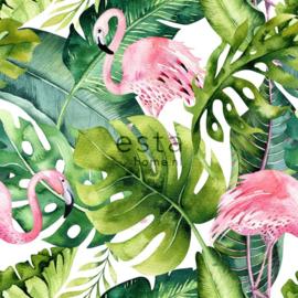 Esta Home Jungle Fever 151-158895 Botanisch/Tropisch/Flamingo's Fotobehang