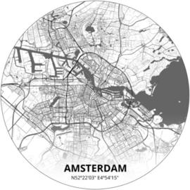 Noordwand Topchic 2021/2023 City Circles Behang Amsterdam CC020/Steden/Plattegrond