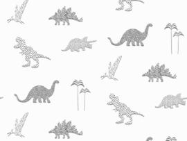 BN Wallcoverings Doodleedo Behang 220783 Dinozoo/Dinosaurus/Dieren/Kinderkamer