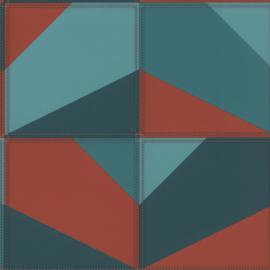 Rasch Club Behang 419269 Modern/Vlakken/Grafisch/3D/Leer effect