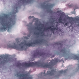 Arthouse Fantasia Behang 260007 Diamond Galaxy Purple/Wolken/Lucht