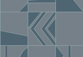 Hookedonwalls Tinted Tiles Behang 29040 Groove/Grafisch/Modern