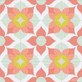 Noordwand Cozz Smile Behang 61168-04 Retro/Modern/60/70 jaren/Bloem