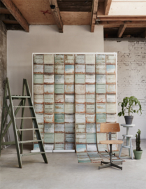 Studio Ditte Behang Container behang Licht/Container wallpaper Light