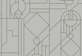 Hookedonwalls Tinted Tiles Behang 29010 Lush/Modern/Grafisch