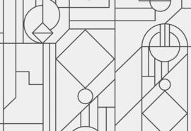 Hookedonwalls Tinted Tiles Behang 29015 Lush/Modern/Grafisch/Flock