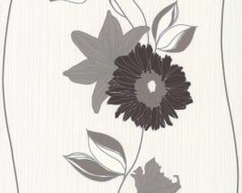 AS Creation Daniel Hechter Behang 9128-31 Bloemen/Streep/Modern/Taupe/Wit