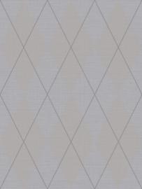 Dutch Wallcoverings Navy, Grey & White Textiel Behang BL72000 Grafisch/Ruiten/Landelijk/Textiel