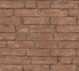 AS Creation Industrial Behang 37747-1 Baksteen/Stenen/Modern/Landelijk/Natuurlijk