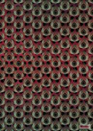 Komar /Noordwand Heritage Edition 1 Fotobehang HX4-033 Paon Rouge/Modern/Landelijk/Natuurlijk Behang
