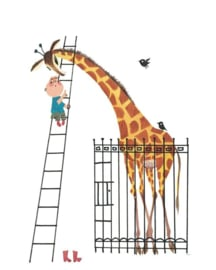 Kek Amsterdam Behang WS 040 Giant Giraffe Fotobehang - Dutch Wallcoverings