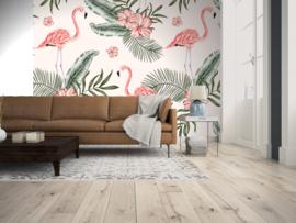 AS Creation Designwalls Fotobehang DD118580 Tropical Vibes 1/Flamingo/Botanical/Bladeren
