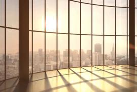 AS Creation AP Digital4 Behang  DD109121 Loft View Sunset 2/Modern/Ramen/Uitzicht/Gebouwen Fotobehang