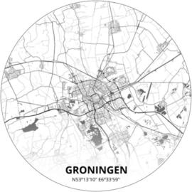 Noordwand Topchic 2021/2023 City Circles Behang Groningen CC050/Steden/Plattegrond