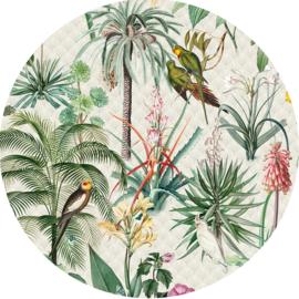Behangexpresse Floral-Utopia Cirkel Tropical Morning INK316 Tropisch/Bloemen/Vogels