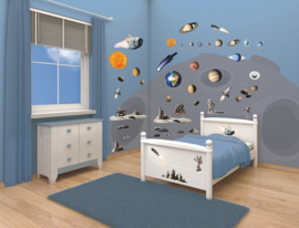 Walltastic Space Adventure 41127 Room Decor Kit Stickers - Dutch Wallcoverings
