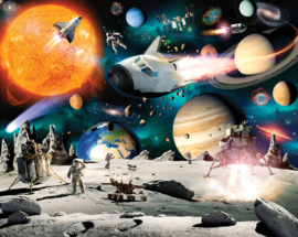 Walltastic 2020 /Dutch Walllcoverings Fotobehang 46511 Space Adventure/Heelal/Galaxy/Ruimte/Kinderkamer Behang