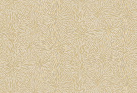 Hookedonwalls Karin Sajo 7 Behang KS 3307 Flock/Velours/Fleur de Sel/Bloemen/Geel