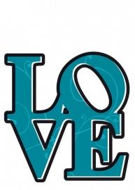 Sticker 17039 Love-Komar