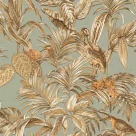 Dutch Wallcoverings Wallstitch Behang DE120017 Vogels/Botanisch/Linnen look/Natuurlijk