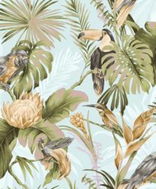 Noordwand Amazzonia Behang 22007 Tropical/Botanisch/Vogels/Toekan/Bladeren