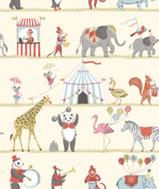Noordwand Just 4 Kids 2 Behang G56545 Circus/Dieren/Kinderkamer