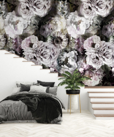 Behangexpresse Light & Dark Colorchoc Fotobehang INK7325 Lush Florals/Bloemen/Romantisch