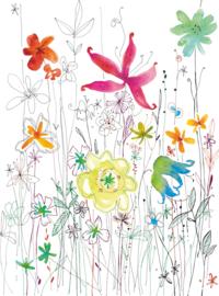 Komar Home Imagine Edition 4 Fotobehang XXL2-022 Joli/Bloemen/Retro/Botanisch/Natuurlijk