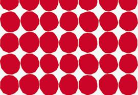 Hookedonwalls Marimekko Behang 23381 Pienet Kivet/Dots/Stippen/Modern/Rood/Retro