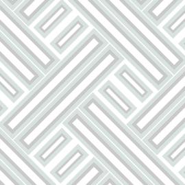 Rasch Galerie Geometrix Behang GX37605 Geometrisch/Modern/Mint/Zilver