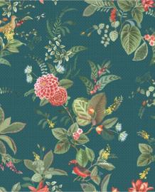 Eijffinger Pip Studio 5 Behang 300116 Bloemen/Vogels/Botanisch/Romantisch/Landelijk/Blauw