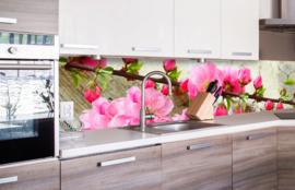Dimex Zelfklevende Keuken Achterwand Sakura KL-260-053 Bloemen/Roze