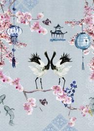 Behangexpresse Special Edition AK1050 Cranes Dance/Vogel/Kraanvogel/Japan/Koi Karper Fotobehang