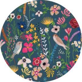 Behangexpresse Sofie & Junar Circle INK361 Tsjilp evening/Botanisch/Vogels/Bloemen