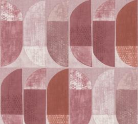 AS Creation Geo Nordic Behang 37531-6 Geometrisch/Modern/Retro/Roze