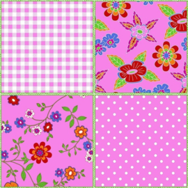 Noordwand Assorti/Bluuming Affairs Behang 44602 Outlet/Roze/PatchworkKinderkamer
