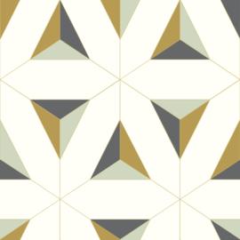 Behangexpresse Eliser Behang EL21071 Modern/Grafisch/Goudgeel
